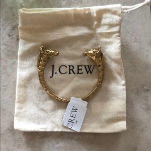 Gold giraffe jcrew bracelet